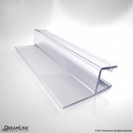 "Clear Vinyl Seal, 76"" Length, 309F-10, for 10 Thick Glass Shower Door"