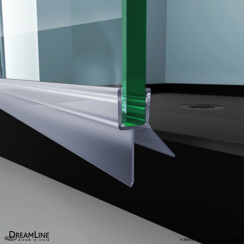 Dreamline H009a1 10 Clear Bottom Sweep Vinyl Pre Cut 23 1 8 In Length For 3 8 In 10 Mm