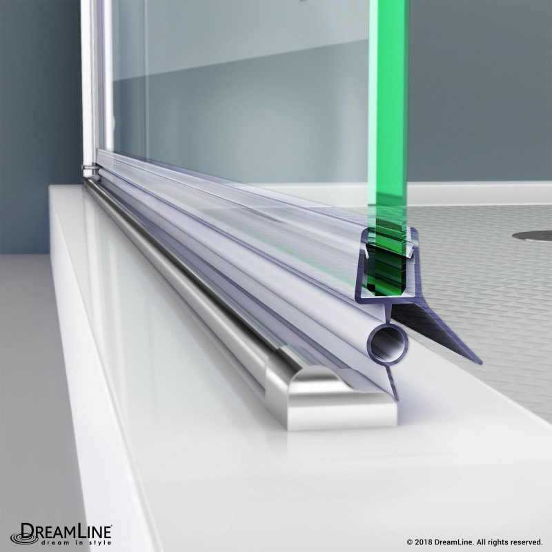 Dreamline 309d2 10 Clear Bottom Sweep Vinyl Pre Cut 24 In Length For 3 8 In 10 Mm Glass Shower Door Dreamline