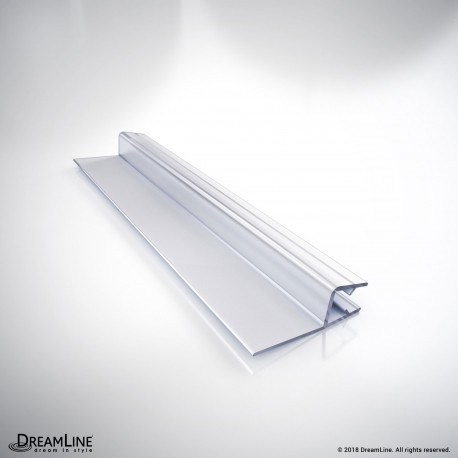 DreamLine 309B3-8, Clear Vinyl Seal with a Flexible Fin, 76 in. Length, for 5/16 in. (8 mm.) Glass Shower Door