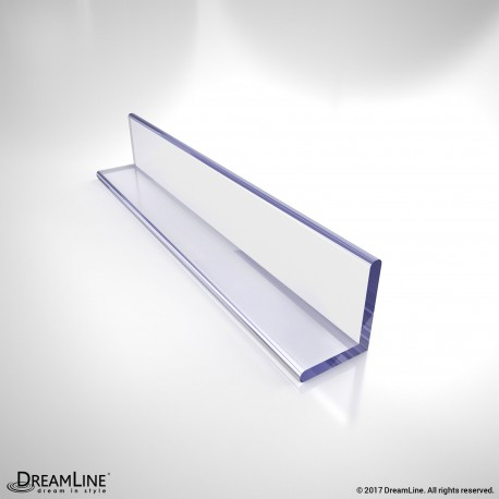 DreamLine JT034, Clear L-Strike with Adhesive Backing, 80 in. Length, for 3/8 in. (10 mm.) Glass Shower Door