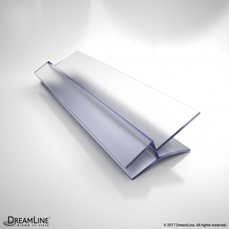 DreamLine JT029-6, Clear Bottom Vinyl Sweep with a Deflector, 42 in. Length, for 1/4 in. (6 mm.) Glass Shower Door