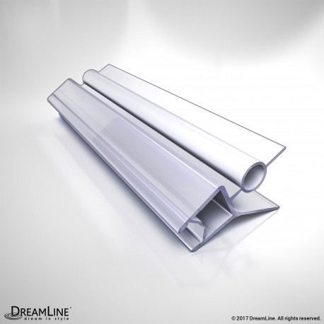DreamLine 309D2-10, Clear Bottom Vinyl Sweep with a Deflector, 42 in. Length, for 3/8 in. (10 mm.) Glass Shower Door