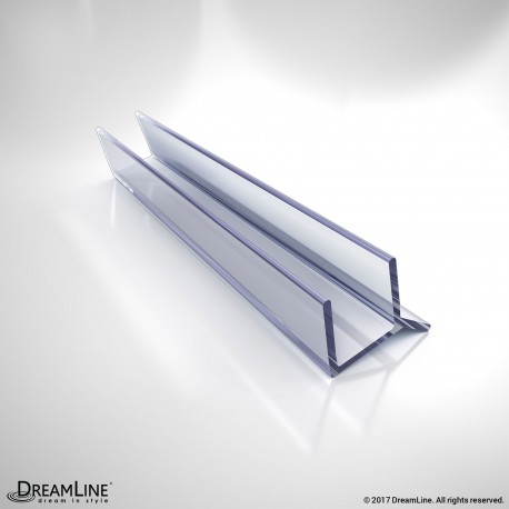 DreamLine JT033B-10, Clear Vinyl Seal, 76 in. Length, for 3/8 in. (10 mm.) Glass Shower Door