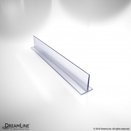 DreamLine JT045, Clear Vinyl Seal, 79 in. Length, for 3/8 in. (10 mm.) Glass Shower Door