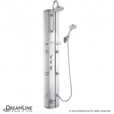 DreamLine Hydrotherapy Shower Panel with Shower Accessory Holder