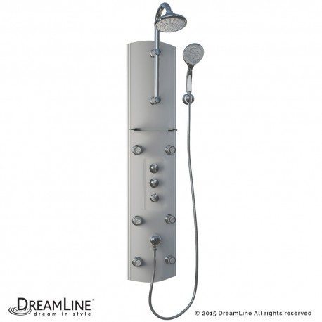 DreamLine Hydrotherapy Shower Panel with Glass Shelf