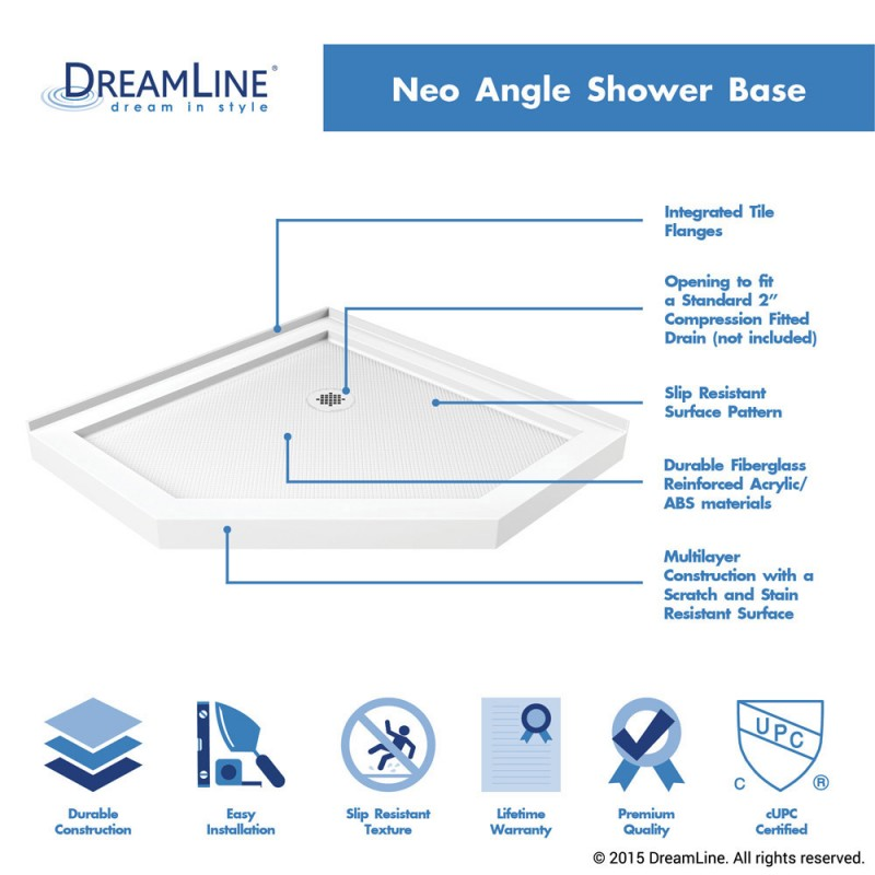 ... SlimLine Neo Angle Shower Base ...