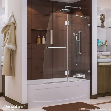 Aqua Lux 48 in. Hinged Tub Door