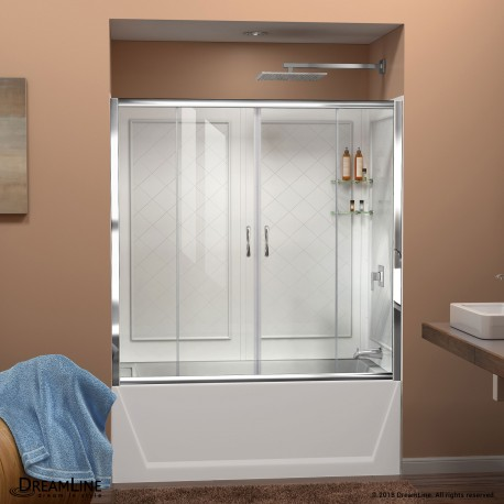 Visions Sliding Tub Door & QWALL-Tub Backwall Kit