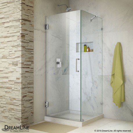 Unidoor Lux Shower Enclosure with Support Arm