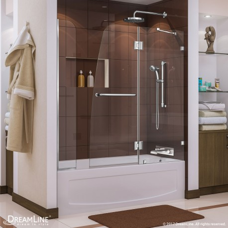 Aqua Lux Hinged Tub Door with Extender Panel