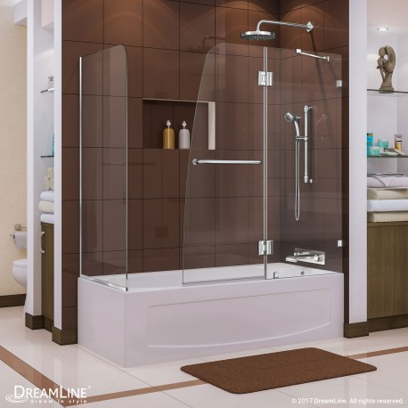 Aqua Lux Hinged Tub Door with Return Panel