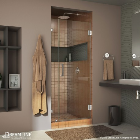 Unidoor Lux 29 - 36 Hinged Shower Door