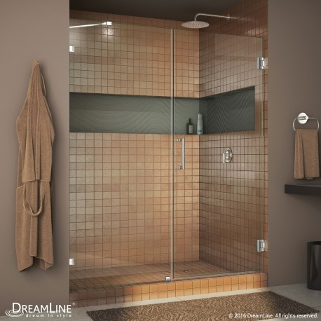 Unidoor Lux 53 - 60 Hinged Shower Door