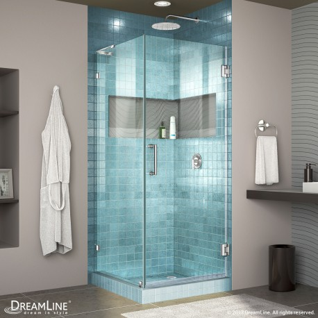 Unidoor Lux Shower Enclosure with L-Bar