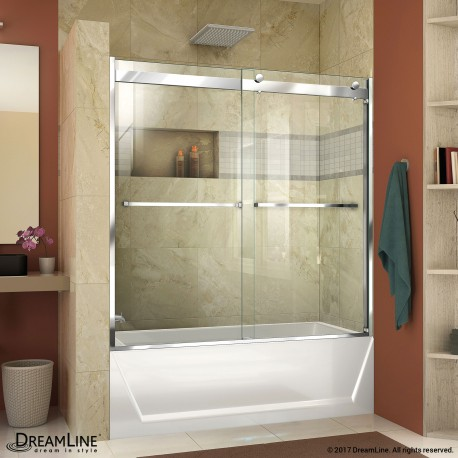 Essence-H Frameless Bypass Tub Door