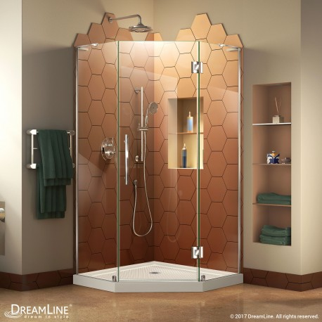 Prism Plus Shower Enclosure and Biscuit Shower Base Kit