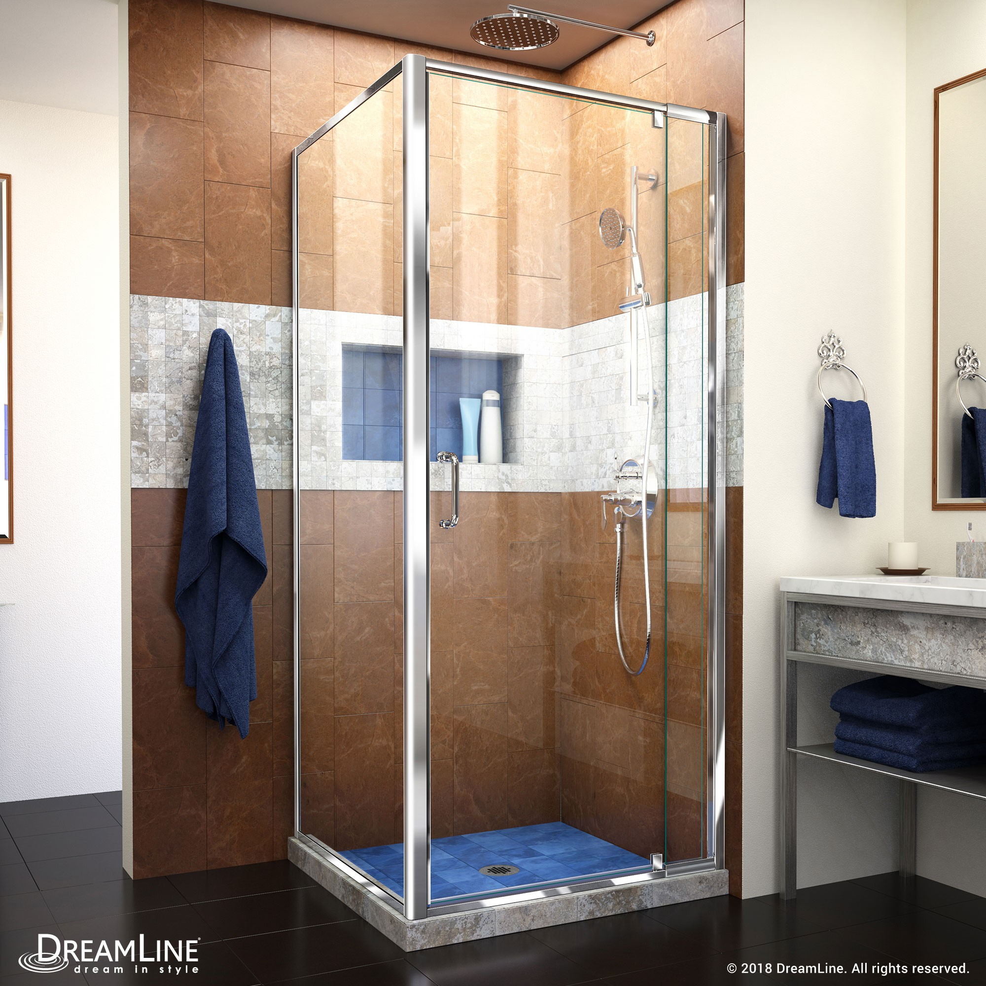 Flex Pivot Shower Enclosure With Return Panel Dreamline