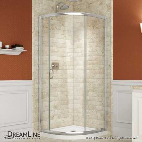Solo 31 3/8 - 36 3/8 in x 31 3/8 - 36 3/8 in Sliding Shower Enclosure