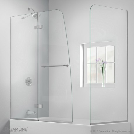 Aqua Ultra Hinged Tub Door with Return Panel