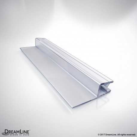 "Clear Vinyl Seal with a Flexible Fin, 76"" Length, 309B3-6, for 6 mm. Thick Glass Shower Door"