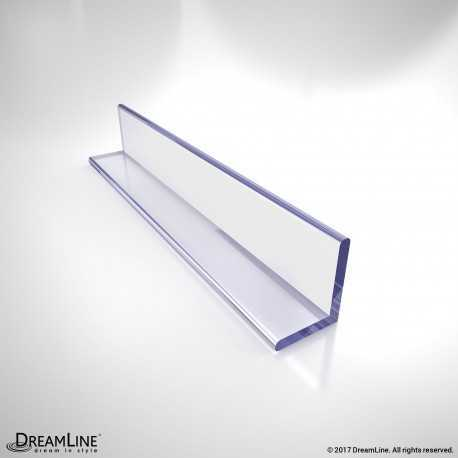 DreamLine JT034, Clear L-Strike with Adhesive Backing, 96 in. Length, for 3/8 in. (10 mm.) Glass Shower Door