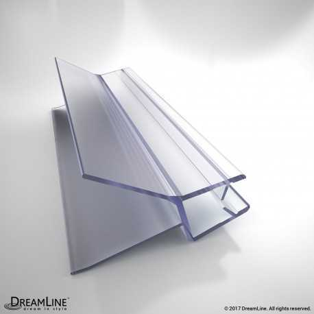 DreamLine H009A1-10, Clear Bottom Vinyl Sweep with a Deflector, 42 in. Length, for 3/8 in. (10 mm.) Glass Shower Door