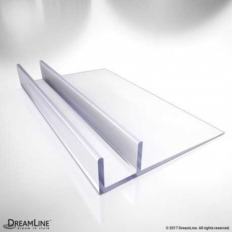 DreamLine JT038-12, Clear Vinyl Seal, 96 in. Length, for 1/2 in. (12 mm.) Glass Shower Door